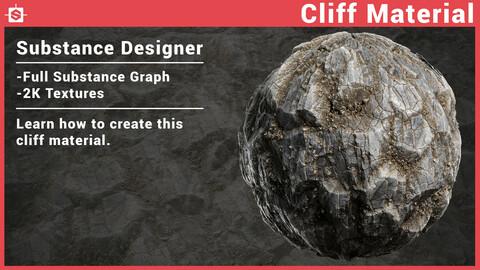 Cliff (02) Material in Substance Designer