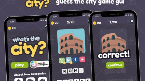 Guess the City Game Gui Asset
