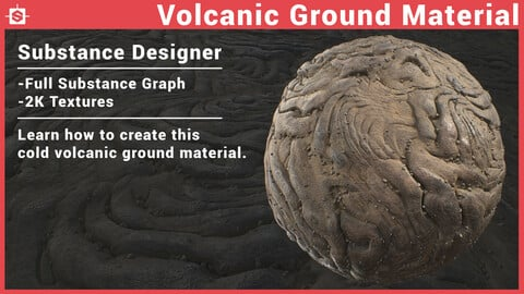 Volcanic Ground Material - Substance Designer