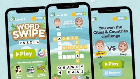 Word Swipe Game Gui Assets