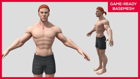 Jaime - Stylized Character - Male Basemesh Game-ready