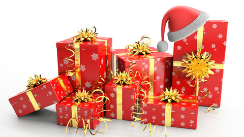 New Year Presents and Gift Boxes v1