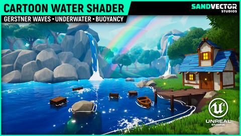 Cartoon Water Shader (Unreal Engine 4)