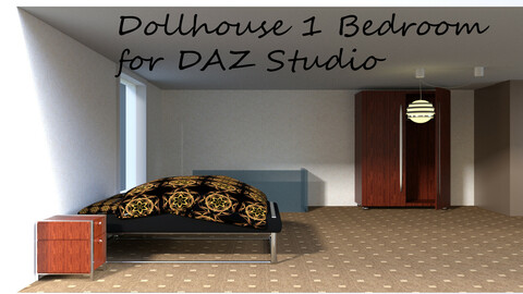 Bedroom for Dollhouse 1 for DAZ Studio