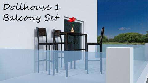Balcony Set for Dollhouse 1 for DAZ Studio