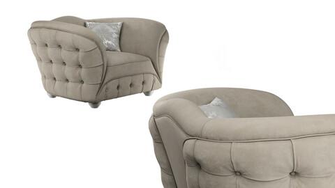armchair GOLD CONFORT SCARLETT 3d model