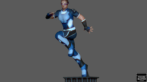 A-TRAIN STATUE THE BOYS AMAZON HERO CHARACTER ATRAIN 3D print model