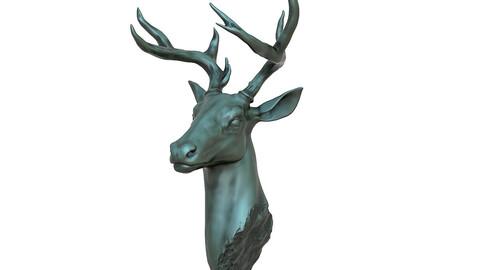 Deer Head Statue