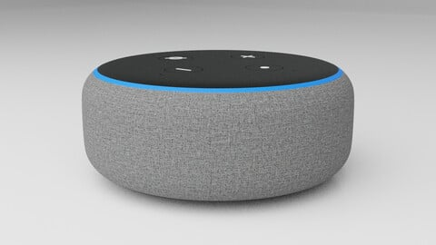 Amazon Echo Dot 3rd - Alexa - PBR - High Quality 3D model