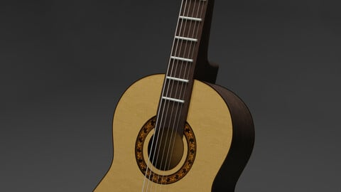 Guitar - Music - PBR - High Poly - High Quality 3D model
