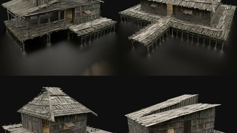 SWAMP HOUSE COLLECTION WETLAND HUTS PACK FANTASY