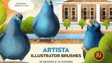 Artista Brushes for Illustrator
