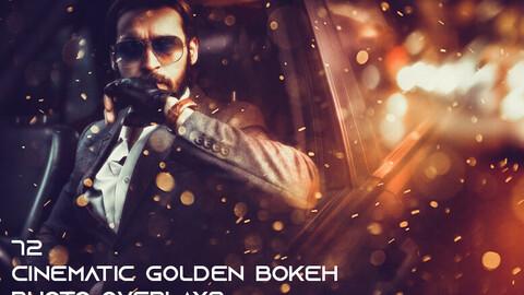 72 Cinematic Golden Bokeh Photo Overlays