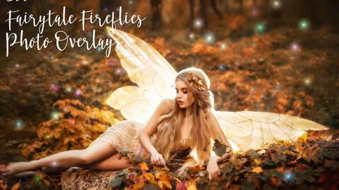 100 Fairytale Fireflies Photo Overlays