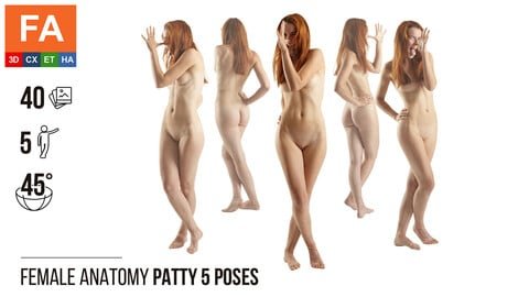 Female Anatomy | Patty 5 Various Poses | 40 Photos