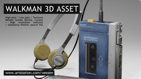 Walkman Paid (Blender/High poly model/High Textures/Substance Painter)