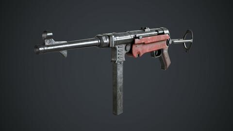 MP-40 Low-poly 3D model