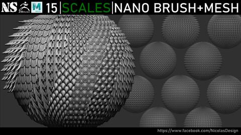 Zbrush - Scales Nanomesh + Meshes