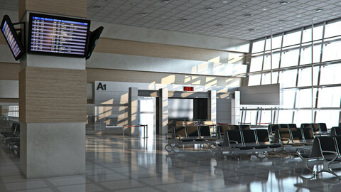 Airport Departures Lounge