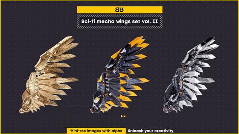 Sci-fi mecha wings image set vol. II