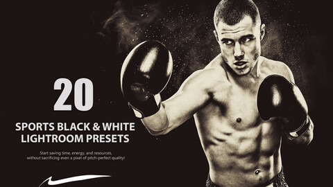 20 Sports Black and White Lightroom Presets