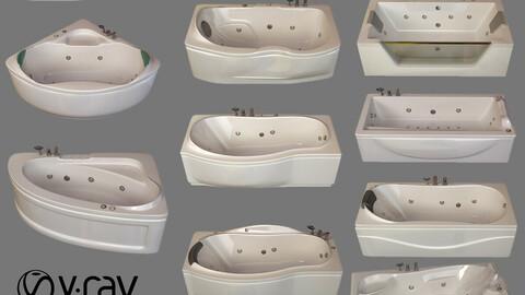 12 model of bathtub