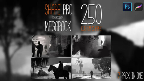 SHAPE PRO MEGAPACK for PROCREATE-PHOTOSHOP