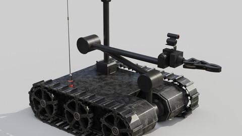 Bomb disposal EOD wheelbarrow robot