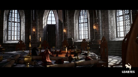 Medieval Castle Interior / Unreal Engine 4 Asset Pack