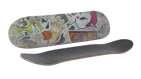 Skateboard Skating board 3d model