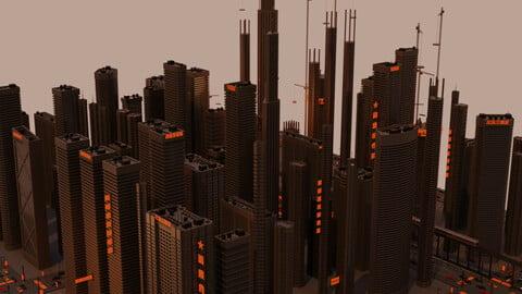 Futuristic Skyscrapers Pack