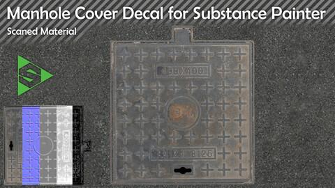 Manhole Cover 02 - Electricity Manhole Cover