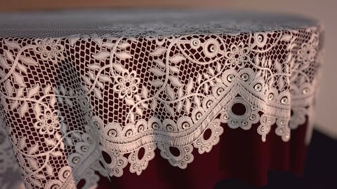 Procedural Lace/Appliqué Material