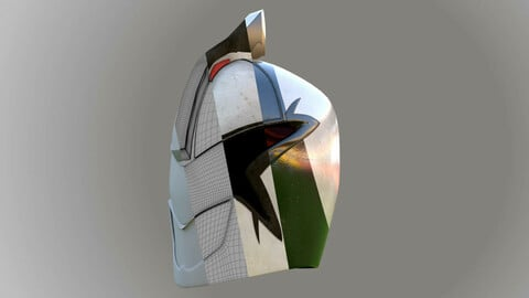 3D Helmet Warrior