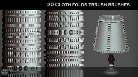 🎀 20 CLOTH Folds IMM [ZBRUSH] Brushes 👗