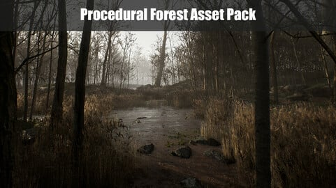 Procedural Forest Environment, Unreal Engine 4