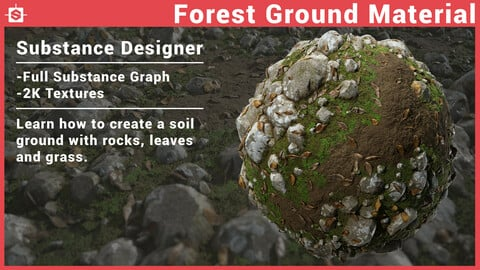 Forest Ground Material - Substance Designer