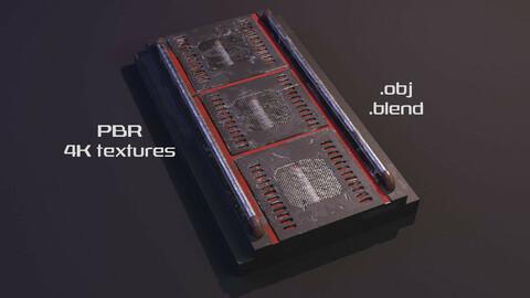 Sci-Fi Spaceship Corridor Floor V3 - 4K Textures