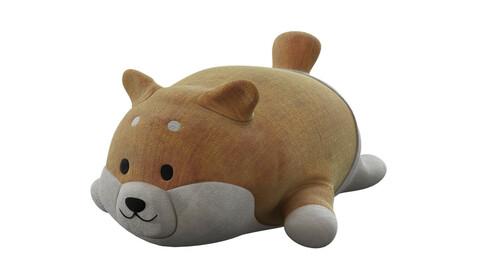 Shiba soft toy 3d model