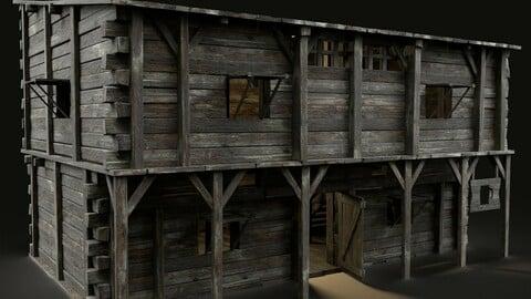 MEDIEVAL INN FANTASY TAVERN WOODEN PUB RESTAURANT BAR HOUSE HUT