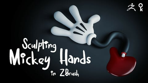 Creating Mickey Hands in ZBrush