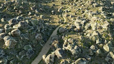 Stony ground in Blender