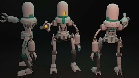 Robot high poly 3d model