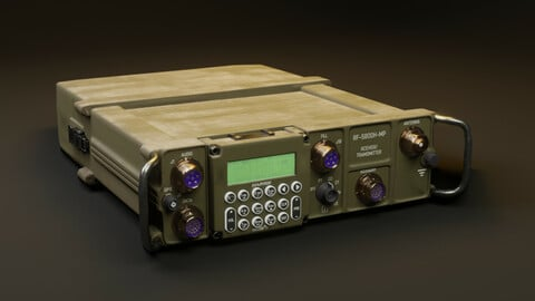 Transmitter and receiver 3d model Harris falcon 2