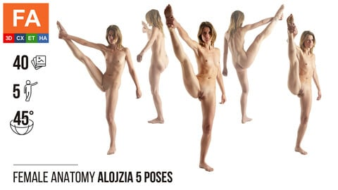 Female Anatomy | Alojzia 5 Various Poses | 40 Photos
