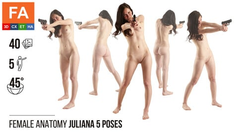 Female Anatomy | Juliana 5 Fighting Poses | 40 Photos