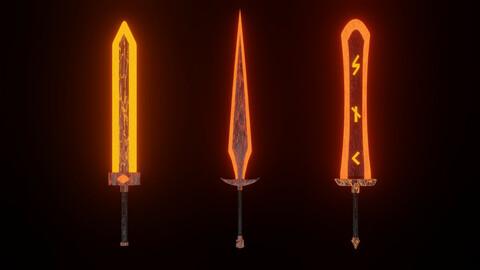 Magma swords