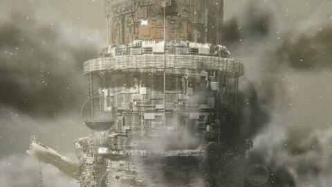 Babel tower - blender eevee building