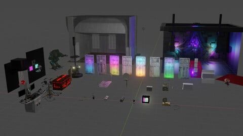 Cyberpunk Lab Asset Pack