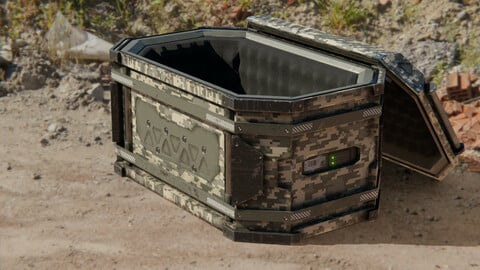 Sci-Fi Military Transport Crate
